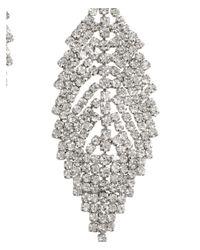 H&M - Metallic Leaf-shaped Earrings - Lyst