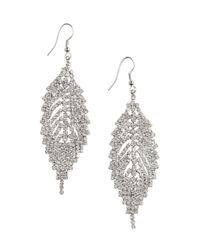 H&M | Metallic Leaf-shaped Earrings | Lyst
