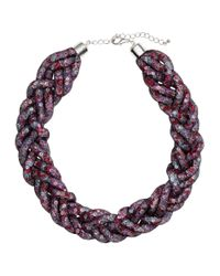 H&M   Multicolor Braided Necklace   Lyst
