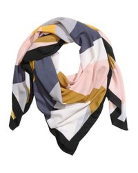 H&M - Pink Patterned Scarf - Lyst
