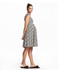 H&M - White Mama Frill-sleeved Dress - Lyst