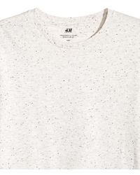H&M - White Nepped T-shirt Regular Fit - Lyst