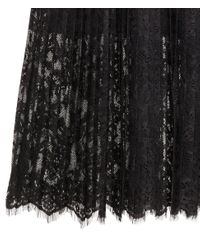 H&M   Black Skirt With Broderie Anglaise   Lyst