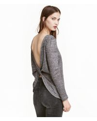 H&M | Gray Blouse | Lyst