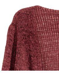 H&M | Red Draped Cardigan | Lyst