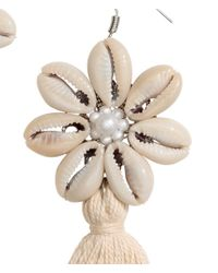 H&M - Metallic Earrings With Shells - Lyst
