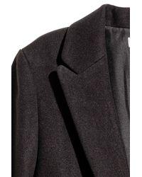 H&M - Black Maxi Coat - Lyst