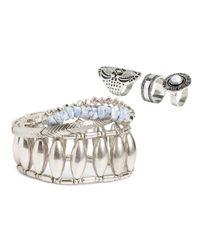 H&M   Metallic Jewellery Set   Lyst