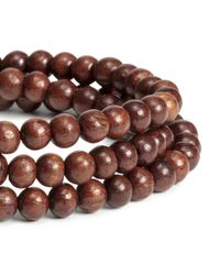 H&M - Brown Wooden Bead Necklace - Lyst