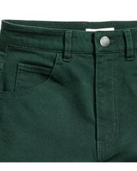 H&M - Green Twill Shorts - Lyst