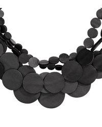 H&M - Black Multistrand Necklace - Lyst