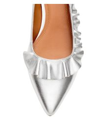 H&M - Natural Low Court Shoes With A Frill - Lyst