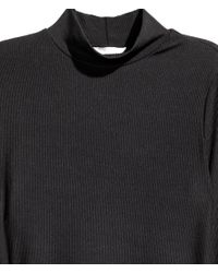 H&M - Black Turtleneck Dress - Lyst