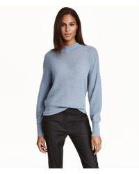 H&M - Blue Mohair-blend Jumper - Lyst