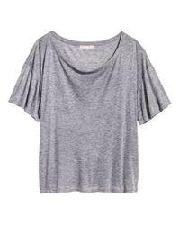 H&M | Gray Top In A Silk Blend | Lyst