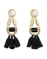 H&M - Black Earrings With Tassels - Lyst