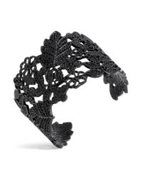 H&M - Black Cuff With A Perforated Pattern - Lyst