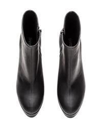 H&M - Black Platform Boots - Lyst