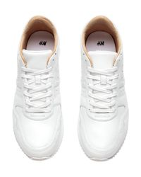 H&M | White Leather Trainers for Men | Lyst