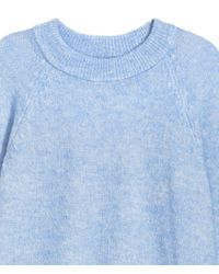 H&M - Blue Knitted Jumper - Lyst