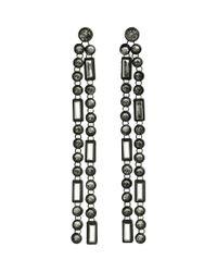 H&M - Black Long Earrings - Lyst