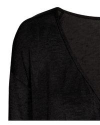 H&M - Black Wrapover Jumper - Lyst