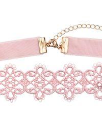 H&M - Pink Lace Choker - Lyst
