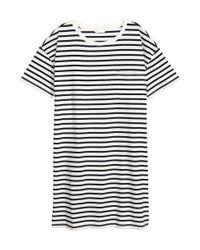 H&M - White T-shirt Dress - Lyst
