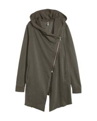 H&M | Natural Hooded Sweatshirt Cardigan | Lyst