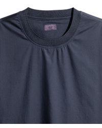 H&M - Blue Wide Cotton T-shirt for Men - Lyst
