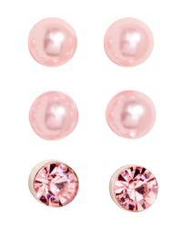 H&M - Pink 9 Pairs Stud Earrings - Lyst