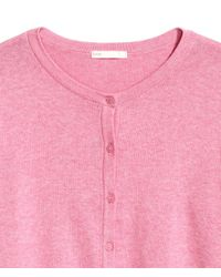 H&M - Pink Cotton Cardigan - Lyst