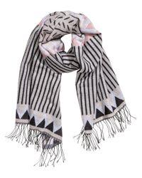 H&M - Gray Jacquard-weave Scarf - Lyst