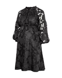 H&M - Black Mama Patterned Dress - Lyst