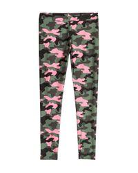 H&M - Green Patterned Leggings - Lyst