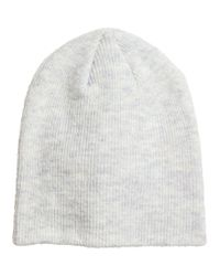 H&M - Gray Rib-knit Hat - Lyst
