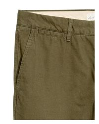 H&M - Green Chinos Slim Fit for Men - Lyst