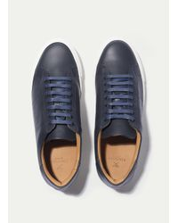 Hackett - Blue Basic Blucher Leather Trainers for Men - Lyst