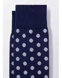 Hackett - White Large Dot Socks for Men - Lyst