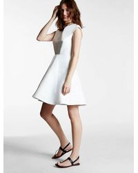 Halston Heritage - White Silk Faille Dress - Lyst