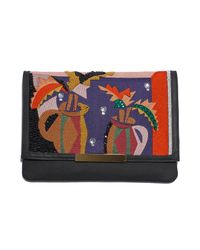 Lizzie Fortunato | Blue Port Of Call Clutch In Cubist Vase | Lyst