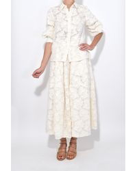 Marni - White Pushed Sleeve Buttondown Shirt In Ivory - Lyst