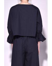 Sea   Blue Dolman Sleeve Pocket Top In Navy   Lyst