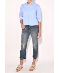 Rag & Bone | Calder Top In Baby Blue | Lyst