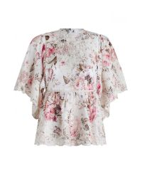 Zimmermann | Multicolor Epoque Broderie Flutter Wrap Top | Lyst