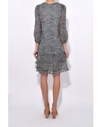 Dorothee Schumacher - Punky Patch Dress In Black White Rebel - Lyst