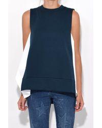 Marni - Sleeveless Sweatshirt In Dark Limoges + Lily White - Lyst