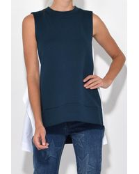 Marni - Sleeveless Sweatshirt In Dark Limoges + Lily White - Lyst