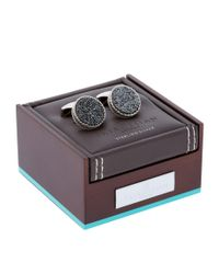 Tateossian - Black Round Drusy Cufflinks for Men - Lyst