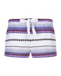 Lemlem - Purple Adia Shorts - Lyst